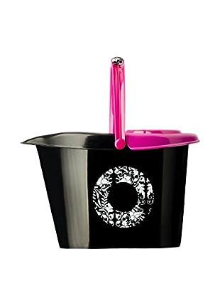 VIGAR Cubo De Fregona Pink Rococco Negro