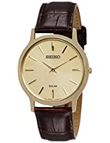 Seiko Analog Beige Dial Men's Watch - SUP870P1