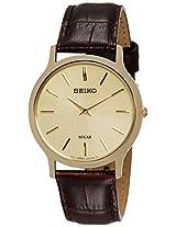 Seiko Analog Beige Dial Men's Watch - SUP870P1