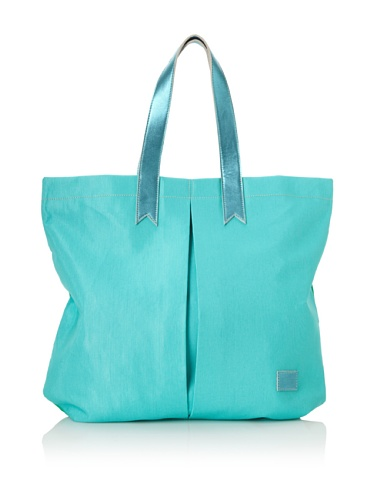 Meredith Wendell Women's Canvas Business + Party Mullet Tote (Green/Surf Blue)