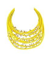 Monisha Daga Metal choker For Women Yellow - ne12-w