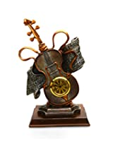 Limited Edition Imported Table Clock ~ Music / Guitar with Realistic Detailing