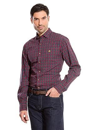 Cortefiel Camisa Cuadro Sport (Rojo / Verde)