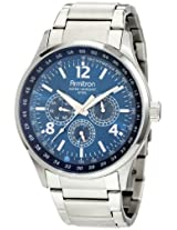 Armitron Men's 204676BLSV Stainless-Steel Multi-Function Blue Textured Dial Sport Watch
