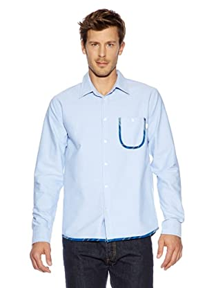 Burton Top Mns Drake Ls Wvn (oxford blue)