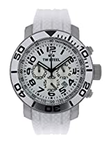 Men'S Diver White Dial Rubber (Tw94)
