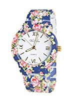 Geneva Flower Style Women Watch, Navy
