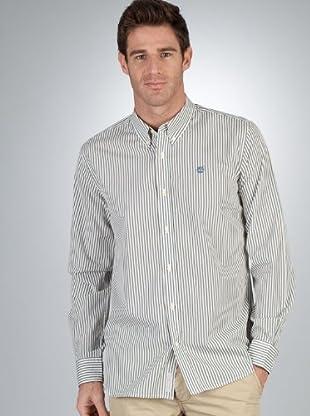 Timberland Camisa (Azul / Caqui)