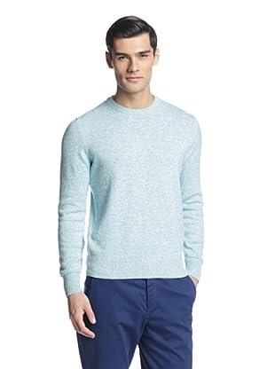 Salvatore Ferragamo Men's Crew Neck Sweater (Blue)