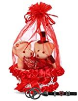 Everyday Gifts Valentine's Day Teddy And Key Ring Combo