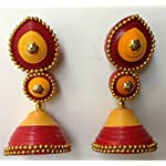 Paper Jwel_Red-Yellow Jhumka