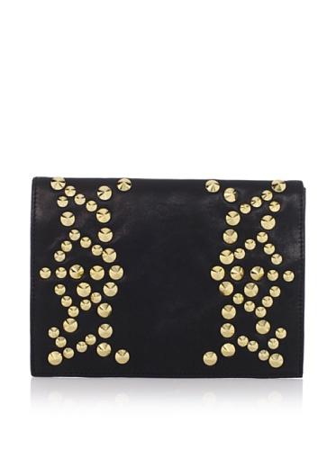Be & D Women's Nells Studded Envelope Clutch (Black)