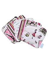 Trend Lab Waverly Tres Chic Bouquet 5 Count Wash Cloth Set