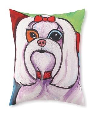 Pawcasso Maltese Pillow