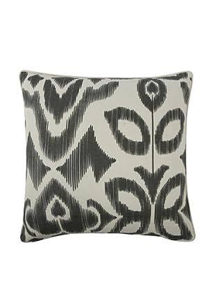 Thomas Paul Ikat-Print Feather Pillow (Charcoal)