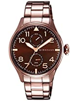 Giordano Analog Brown Dial Men's Watch - 1719-66