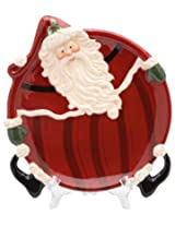Appletree Design Santa Plate, 10-1/4 by 8-1/4 by 1.37-Inch
