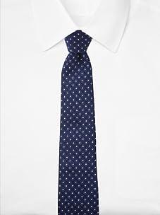 Aquascutum Men's Floral Silk Tie (Black/Blue)