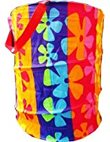 Foldable Collapsible Pop-Up Clothes Laundry Hamper Bag Storage - Color and Design as Per Availability