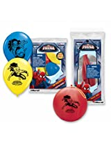 Pioneer National Latex Spider-Man Balloon Party Pack (6 Balloons/4 Punch Balls), Assorted