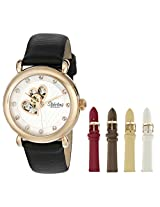 Stuhrling Original Women's 108EH.12452 Amour Cupid Valentine Automatic skeleton Swarovski Accented Rose Tone Watch Gift Set
