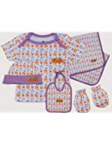 Chhota Bheem Baby Combo -Infants 5 in 1 set in White / Purple