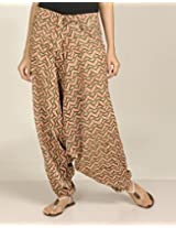 Cotton Printed Low Crotch Harem Pant-
