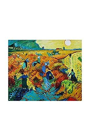 Arte Dal Mondo Ölgemälde auf Leinwand Van Gogh Vigneti Rossi