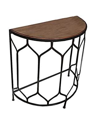 Winward Nate Iron Console Table, Brown
