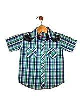 Globe Boys Checked Cotton Shirt Half Sleeve