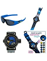 Batman Dark Knight Undercover Kids Sunglasses & 10 Image Gotham Projector Watch