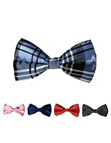 DBFF0019 Various of Colors Satin Gentlemen Boys Pre-Tied Bow Ties Set - 5 Colors Available By Dan Smith