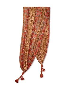 Sir Alistair Rai Women's Wild Print Tassel Wrap (Marigold)