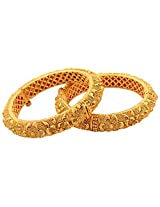New Amrit 1 Gram Gold Plated Bangles (1 pair)