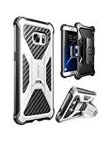 Galaxy S7 Edge Case, i-Blason Prime [Kickstand] Samsung Galaxy S7 Edge 2016 Release [Heavy Duty] [Dual Layer] Combo Holster Cover case with [Locking Belt Swivel Clip] (White)