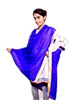 Rangsthali Art silk Gota Work Womens dupatta Stole