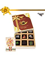 9pc Yummy Chocolate Box With Card - Chocholik Belgium Chocolates