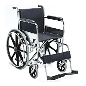 KosmoCare Dura Rexine Mag Wheel Regular Foldable Wheelchair