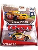 Mattel Disney Pixar Cars, Piston Cup Die-Cast, Rpm No. 64 #17/18, 1:55 Scale