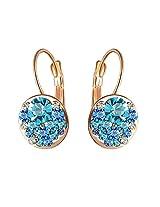 Aaishwarya Bling Blue Crystal Earring