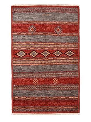 Darya Rugs Moroccan Oriental Rug, Red, 4' 2