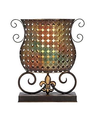 Metal 1-Light Accent Lamp, Rust