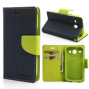 iAccessorize Mercury Goospery Flip Wallet Case Cover For Samsung Galaxy Core 2 (Green)