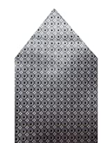 Navaksha Grey Dots Style Pocket Sqaure