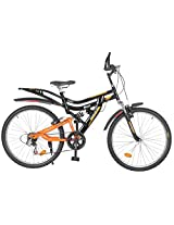 Hercules Dynamite ZX Aluminum Comfort Bike, Men's 26-inch (Black/Deep Orange)
