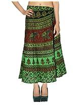 Rajrang Womens Wrap Skirt (Skw06672 _Green _Long)