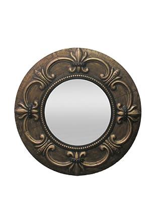 Three Hands Metal Wall Mirror