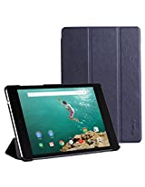 "Google Nexus 9 Case - WAWO Ultra Slim Lightweight Smart-shell Stand Cover Case for Google Nexus9 8.9"" Android 5.0 by HTC 2014 Tablet(With Smart Cover Auto Wake / Sleep) - Black"