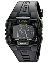 Timex Men s T49900 Expedition Rugged Wide Digital Chrono Alarm Timer All Black Resin Strap Watch