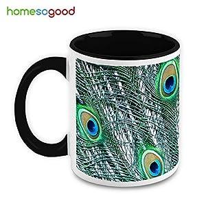 HomeSoGood An Art Of Peacock Coffee Mug